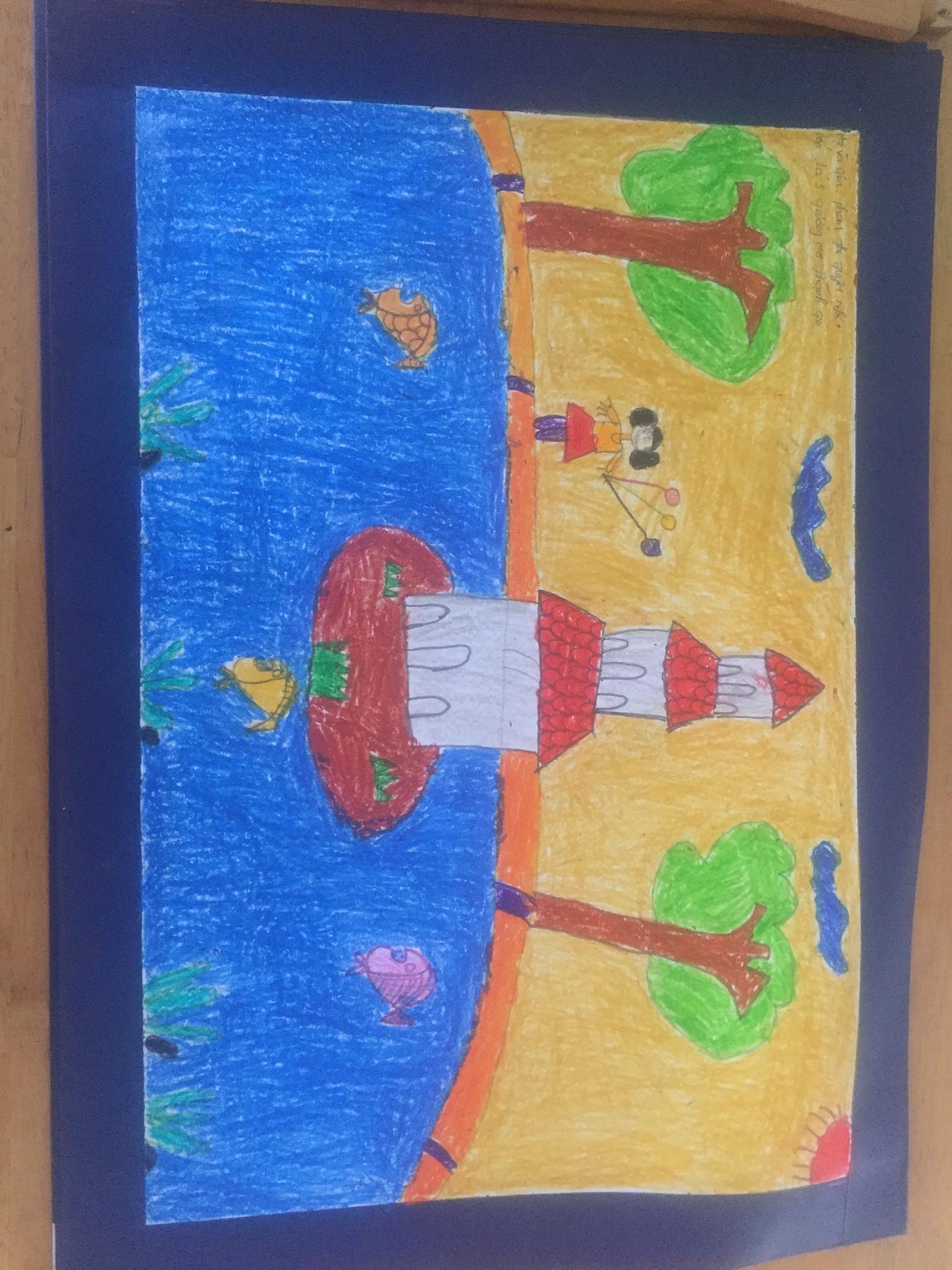 Các bé trường Mẫu Giáo Thạnh Trị thi vẽ tranh